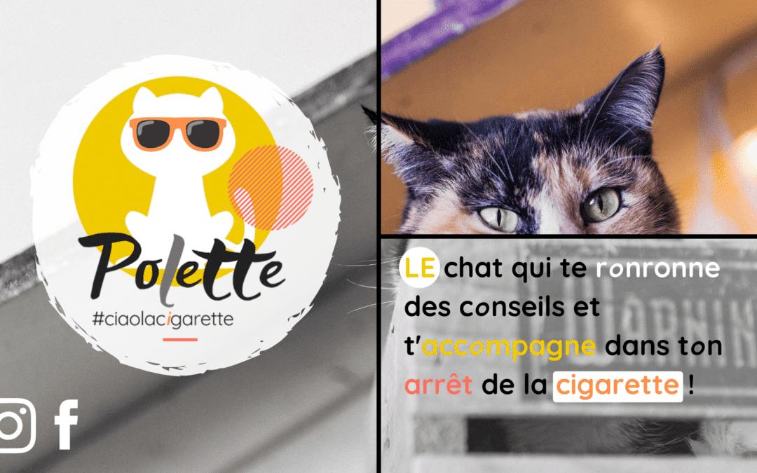 Polette, le chat connecté qui pense à ta santé !